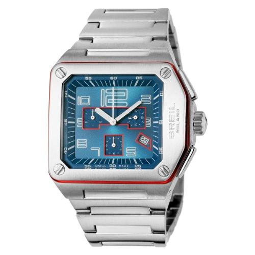 Breil - Reloj de caballero de cuarzo, correa de acero inoxidable color plata