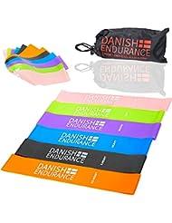 6er oder 3er Set Loop Fitnessbänder von DANISH ENDURANCE, inklusive Tasche, Widerstandsbänder, Trainingsbänder, Gymnastikbänder, Resistance Band, Arme & Beine, Fitness, Yoga, Pilates, Sport