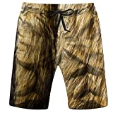 OOworld Men's Swim Trunks Set Cats Badges Patches Stickers Objects Vector Quick Dry Beach Wear Shorts Swimwear with Pockets,M