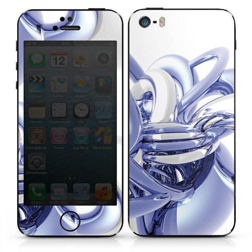 Apple iPhone 4 Case Skin Sticker aus Vinyl-Folie Aufkleber Knoten Chrom Eis DesignSkins® glänzend