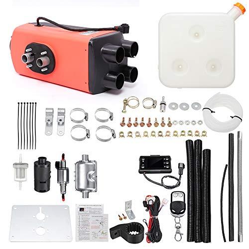 keruite Riscaldatore Diesel Aria Kerade 5KW 12V / 24V con termostato LCD per Controllo remoto, Alloggiamento riscaldatore Aria Diesel 4 Fori
