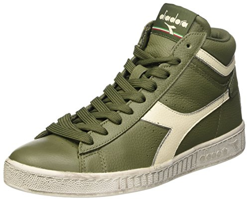 Diadora Game L High Waxed, Scarpe Low-Top Unisex Adulto, Verde (Verde Olivina/Bianco Sospiro), 41 EU