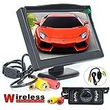 BW drahtlose Auto-Parken-System-Installationssätze - 5 Zoll HD 800 * 480 Pixel (nicht 320 * 240) Autorearview-Monitor + drahtlose 7 LEDS IR Nachtsicht-Auto-Rückseiten-Unterstützungskamera
