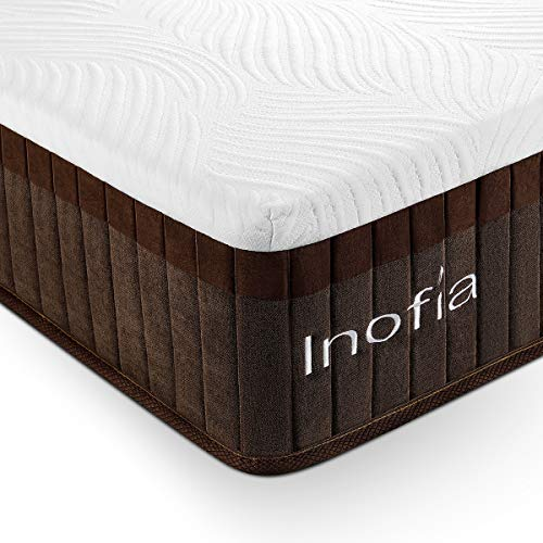Inofia Double Memory Foam Mattress 11.4 Inch , 4FT6 Double Mattress with LegenComfort Memory Foam / Extraordinary Pocket Coil Technology /100 Night Test at NO Risk (137x190x29cm)