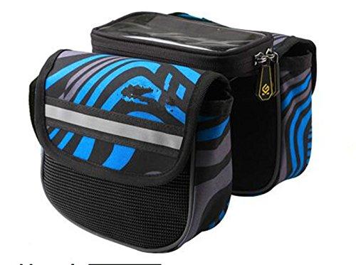 FAN4ZAME Fahrradtasche Touchscreen Mountainbike Satteltasche Obere Rohr Beutel Vorderer Träger Bag Fahrrad Zubehör Tasche Handy Tasche E