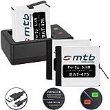 3 Baterías + Cargador doble (USB) para cámara deportiva SJCAM SJ6 Legend WiFi (Black / Silver / Rose Edition), SJ6000 Legend Actioncam - contiene cable micro USB