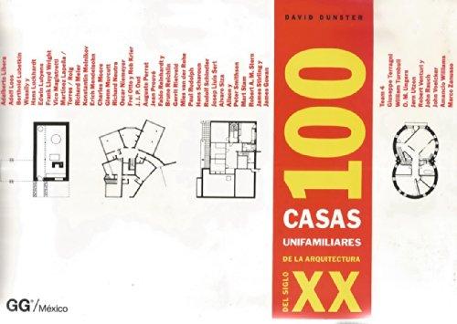 100 casa unifamiliares de la arquitectura del siglo XX