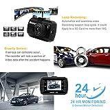 Dash-Cam, 1080p FHD-Auto-DVR mit G-Sensor Autoarmaturenbrett Digitaler Fahrrecorder Parkmonitor, Bewegungserkennung, Loop-Aufnahme, G-Sensor, 16-GB-Karte im Lieferumfang enthalten, Schwarz, gute Wahl als Geschenk -