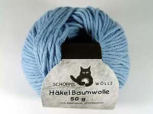 Schoppel-Wolle Häkel Baumwolle 4441 taubenblau VE: 50g