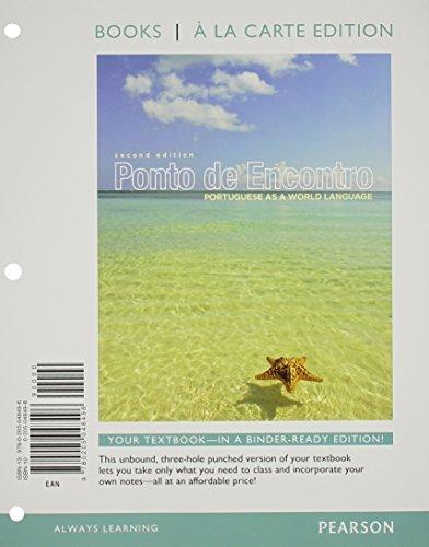 Ponto de Encontro: Portuguese as a World Language, Books a la Carte Edition (2nd Edition) by Clemence de Jouet-Pastre (2012-02-20)