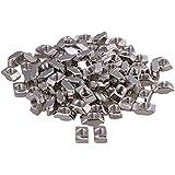 100piezas de plata T bloque de tuerca con rosca M8deslizante para 40Serie Europea estándar aluminio ranura