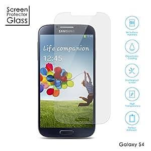 Aukey® prime Protection écran en Verre Trempé INRAYABLE et ULTRA RÃSISTANT INDICE Dureté 9H Haute transparence pour Samsung Galaxy S4(pas compatible avec S4 mini)