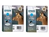 Epson T1301 x2 2x Tintenpatronen Original, cyan
