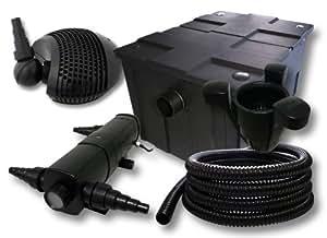 Filter Set Bio Teichfilter 60000l 24W UVC Teichklärer 25m Schlauch Pumpe Skimmer 40