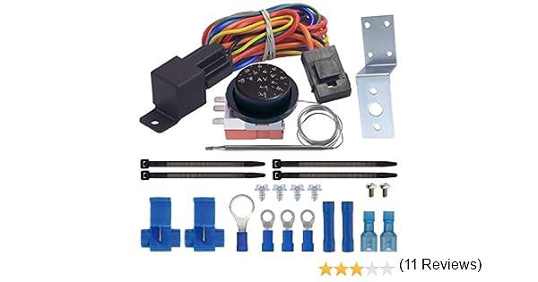 American V regolabile Termostato Dual elettrico ventola cablaggio Kit di installazione 40/A Rel/è automatico interruttore