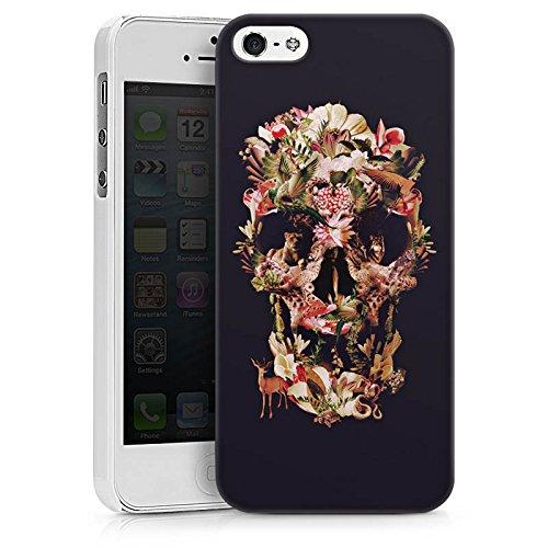 Apple iPhone X Silikon Hülle Case Schutzhülle Skull Totenkopf Schädel Hard Case weiß