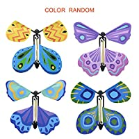 GreceMonday Creative Flying Butterfly, Novel Magic Props Toy, for Kids, Funny Games Gadgets, Educational Toy, Random Color random