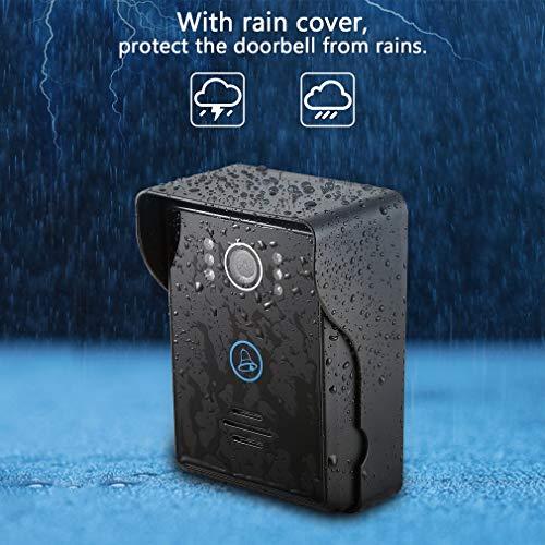 OIQQ Touch Key Motion Detection Video-Türklingel-Gegensprechanlage Mit 2 Dingdong-Türklingeln Motion-detection-video