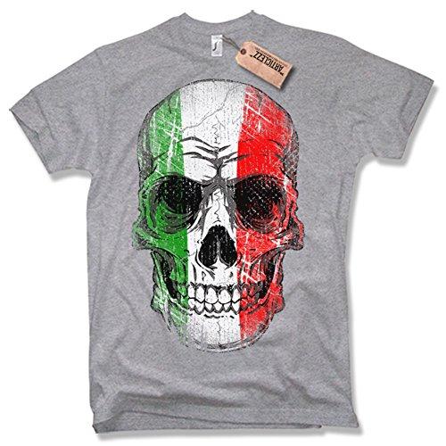 ITALY SKULL T-Shirt, Italien, Totenkopf, verschiedene Farben, Gr. S