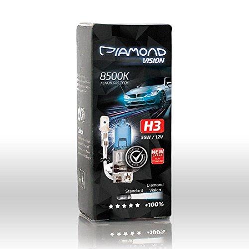 Gebraucht, 2x H3 12V 55W Diamond Vision Xenon Look Effekt Halogen gebraucht kaufen  Wird an jeden Ort in Deutschland