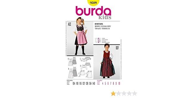 Burda Nähmuster 9509 für Kinder-Dirndl, Größen: 104 - 140: Amazon.de ...