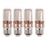 E27 LED Glühbirne 12W 6000K Kaltweiß Ersatz 80-100W Glühlampe für Garage Lager Korridor Küche, Schlafzimmer, Hängendes Licht, Bad, Wohnzimmer, 4er Pack