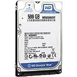 Western Digital WD5000BEVT Scorpio Blue - Disco duro interno de 500 GB (5400 rpm, 6,4 cm (2,5 pulgadas), caché de 8 MB, SATA)