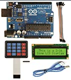 #10: ARK Technosolutions Arduino Uno With Pack Of (LCD ,USB Cable,Keypad,20 Female To Female Connector)