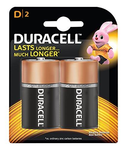 Duracell Alkaline Battery D with Duralock Technology (2 Pieces)
