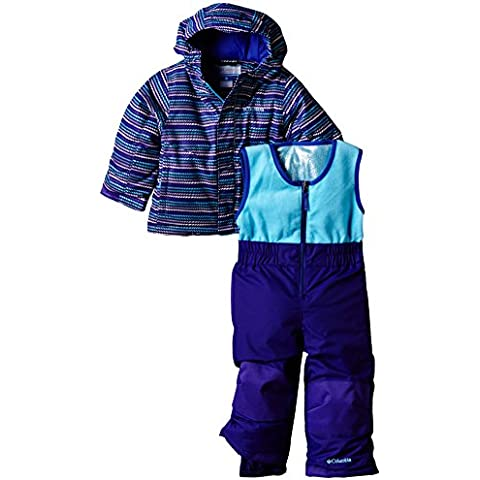 Columbia, Set di salopette e giacca da sci Bambini Buga, Blu (Hyper Purple Stripe), 3 anni