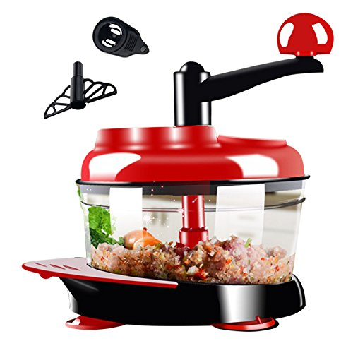 51cIGHi%2B%2B4L. SS500  - 1.2L Electric Mini Food Chopper Food Processor Meat Grinder,4 Bi-Level Blades,500 W Stainless Steel Kitchen Mincerfor Meat, Vegetables, Fruits, Onion and Nuts,Baby Food