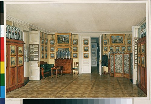 Das Museum Outlet–Hau, Edward Petrowitsch–Interiors der Winter Palace. Die Valet Raum von Kaiser Alexander II–or-14457, gespannte Leinwand Galerie verpackt. 96,5x 121,9cm