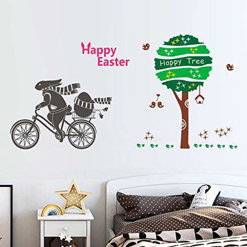 jieGREAT Räumungsverkauf  , Happy Easter Rabbit Vinyl Decal Art Wall Sticker DIY Home Room Decor