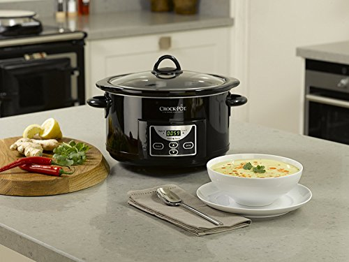 Crock-Pot SCCPRC507B-050 - Olla de cocción lenta digital de 4.7 L, color negro