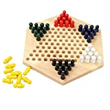 VinegarPickl Holz-Chinese Checkers Spiel Holz-Sechseck Checkers