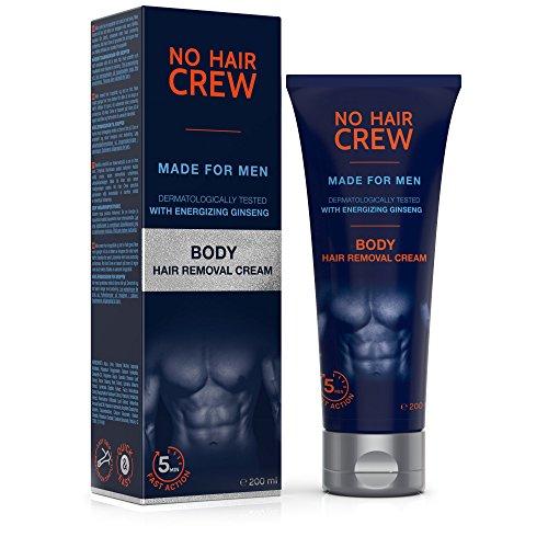 NO HAIR CREW Crema Depilatoria Corpo Di Prima Qualità - Per Uomo 200 ml