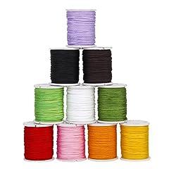 Idea Regalo - SODIAL (R) 10 rotoli di fili in nylon colorato misto perline stringa filetto 0,8 millimetro gioielli fai da te