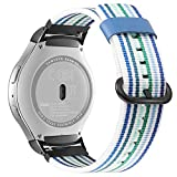 Fintie Armband für Samsung Gear S2 Sport Smart Watch - Premium Nylon UhrBand Uhrenarmband Ersatzband Replacement,Blau