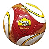 Pallone cucito a macchina, ideale per il tempo libero.Diametro 23cm. Costruito in PVC, peso 410g. Disponibile nella misura n°5. Prodotto ufficiale A.S. Roma