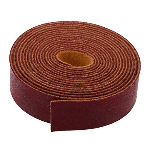 Homyl 10 Meter Flach PU Lederband Lederriemen Schulterriemen Schultergurt Riemen Gurt für Damen Taschen - Wein Rot, one Size