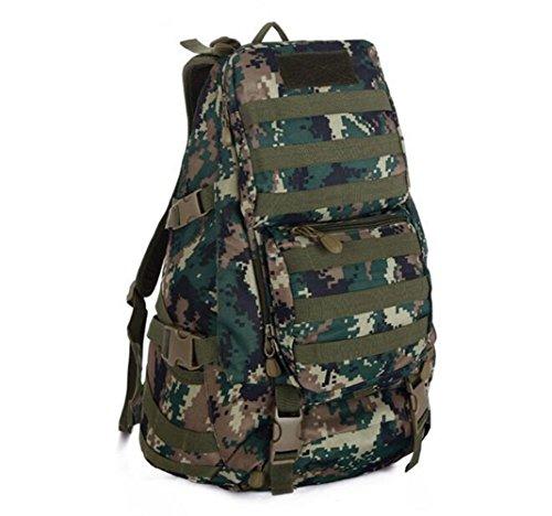 GOUQIN Outdoor Rucksack Klassische Mode Outdoor Klettern Rucksäcke Taschen 3 Camouflage