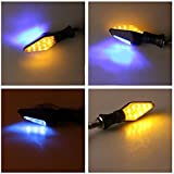 Sharplace 4 x 12LED DC12V Mortoradblinker Motorrad Blinkleuchte Blinker Lampe
