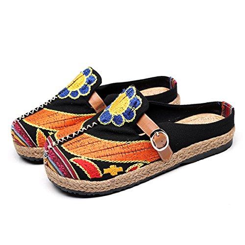Gracosy Alpargatas Zapatos de Mujer Caminando Zapatillas Plano de holgazán Sandalias de Verano de Playa...