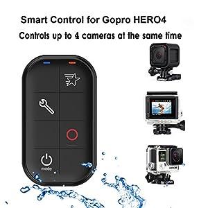 COOSA Wifi Télécommande Intelligente étanche Smart Remote Longue Portée pour GoPro HERO 4 / HERO 3+ et HERO Session Avec Dragonne Réglable