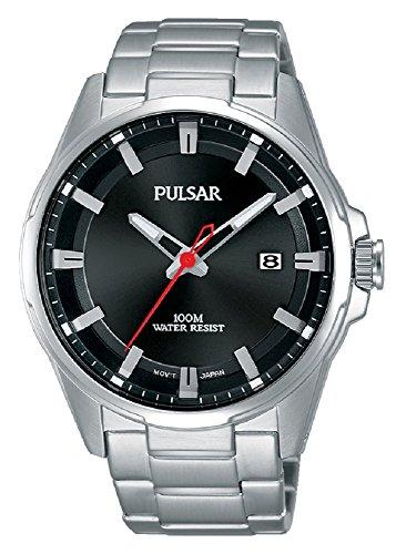 Pulsar Herren-Armbanduhr Sport Analog Quarz Edelstahl PS9509X1