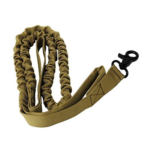 Qiuxiaoaa Hundeleine Seil Hyäne Seil Kragen Kette Nylon Aktive Militärische Polizei Hundeleine Elastische Hundehalsbänder Khaki -