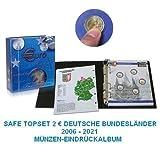 SAFE 7821 TOPSET MÜNZEN EINDRÜCKALBUM 2 EUROMÜNZEN DEUTSCHE BUNDESLÄNDER EUROMÜNZALBUM 2006 - 2021 - mit 7 x farbigen Münzblättern inclusive Bayern Neu Schwanstein 2012