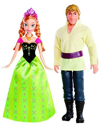 (Mattel Disney Princess BDK35 - Die Eiskönigin Anna und Kristoff, 2 Puppen im Set)