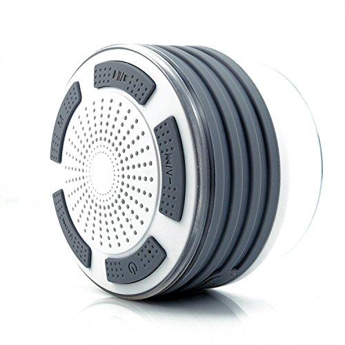 Ultra Portable Wireless Bluetooth Lautsprecher V4.0 Mit Wasserdichtem Ip67 Hd Sound Und Bass Für Iphone Ipod Ipad Handys Ju-b013 (Weiß+grau)