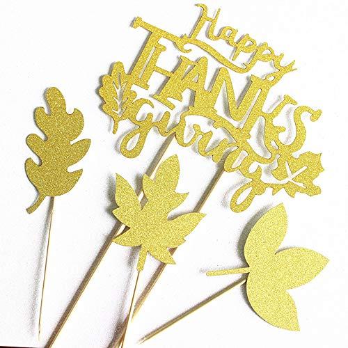 Happy Thanksgiving Tortenaufsatz, Ahornblätter, für Herbst/Ernte